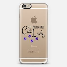 """""""Self-Proclaimed Cat Lady - Purple"""" by Artist Julia Di Sano, Ebi Emporium @casetify  Minimalist Typography Cats Pets Animals Cat Lover Gift Pawprints Font Chic Modern Quote Funny Transparent iPhone Tech Device Case #iPhone #iPhoneCase #Transparent #cats #catlady #kittens #pawprints #font #typography #pets #purple #animals #minimal #tech #techie #case #phonecase #Samsung #iPhone5 #iPhone6 #iPhone6Plus #Casetify Get $10 off using code: 5K7VFT"""