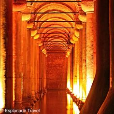 Kit visited the glowing #BasilicaCistern in #Istanbul, #Turkey. This #cistern dating back to the 6th century is the largest of several hundred that lie beneath the city. #takenbyesplanade #travelbucketlist #wanderlust #luxurytravel