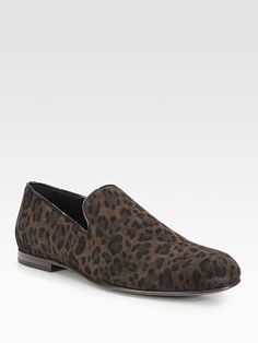 Jimmy Choo Sloane Leopard Slipper Shoe