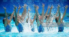 Photo d'actualité : The Olympic Synchronized Swimming team from...