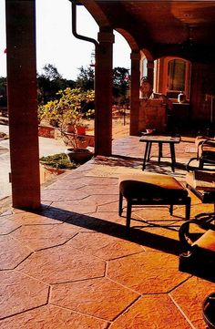 Get a relaxing breath of fresh air on a stamped concrete patio that looks pleasing to the eye and feels comfortable underfoot.  We offer top quality decorative concrete service you can count on. Call us @ (281) 407-0779 for a FREE quote!  Bullion Coatings 11811 North Fwy Houston, TX 77060 (281) 407-0779 http://www.DecorativeConcreteHoustontx.com/