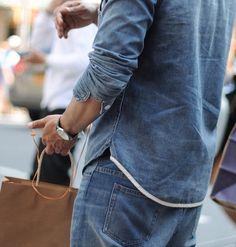 #denim menswear #fashion ideas available on Blue Collar Worker