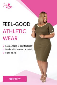 The Tamela Mann Collection offers a variety of workout clothes for the everyday curvy woman that's constantly on the go. Shop here for comfortable workout, after work or simply just running errands clothes. Thick Girl Fashion, Curvy Women Fashion, Plus Size Fashion, Look Plus Size, Plus Size Women, Tamela Mann, Athletic Wear, African Fashion, Plus Size Outfits