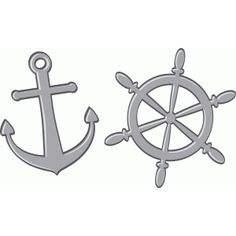 Silhouette Design Store - View Design #61206: anchor and wheel
