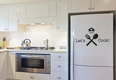 Such a clean, simple kitchen set up. I really like the separate stove top and oven. This allows for a gas top and an electric oven.my favorite combination. Kitchen Set Up, Cheap Home Decor, Kitchen Stocked, Home Technology, Modern Kitchen, House, Kitchen, Kitchen Technology, Energy Efficient Appliances