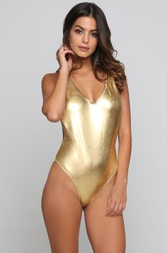 d5bafb4aa74e3 Kai Lani V One Piece - Golden | ISHINE365 > > http:/. ISHINE365 Buy  Designer Swimwear & Bikinis