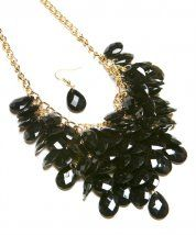 Necklace -Black with mult-line