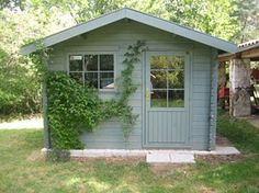 Classy shed and fence painting garden shed paint colours for covent garden Painted Garden Sheds, Painted Shed, Shed Paint Colours, Shed Conversion Ideas, Cuprinol Garden Shades, Home And Garden Store, She Sheds, Shed Design, Garden In The Woods