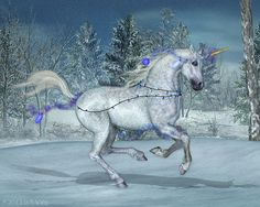 Holiday Unicorn - 3rd times the charm? by Daio.deviantart.com on @deviantART