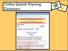 Online Spanishi Rhyming Dictionary
