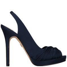 f7481755f Felyce Pump by Nina Shoes Bridal in New Navy Luster Satin Nina Shoes