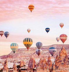 cappadocia balloon Turkey from the skies: Magical images of hot air ballooning in Cappadocia - Cappadocia Balloon, Cappadocia Turkey, Turkey Destinations, Wallpaper Animes, Balloon Flights, Magical Images, Air Balloon Rides, Hot Air Balloons, Air Ballon