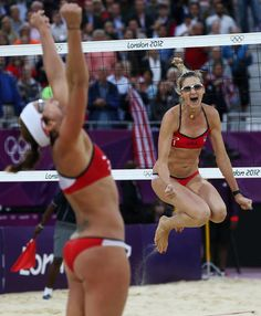 Missy May Treanor And Kerri Walsh Jennings Beat China In The Semifinals In London