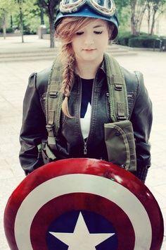 Cute Female Captain America