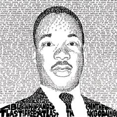 This handwritten Martin Luther King Jr word art print is the perfect gift! Looks great as a poster, framed print, or wall art.