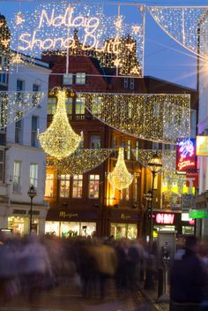 Christmas in Grafton Street, Dublin, Ireland