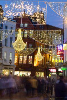 Christmas in Grafton Street, Dublin, Ireland