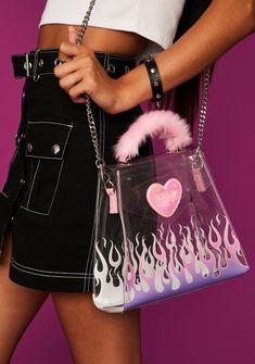 Baddie, Pink Doll, Chrome Colour, Bratz Doll, Chain Crossbody Bag, Mesh Long Sleeve, Mini Purse, Pouch Bag, Lounge Wear