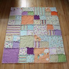 Dress Up Days Baby Rag Quilt / Childs Rag Quilt. $74.00, via Etsy.