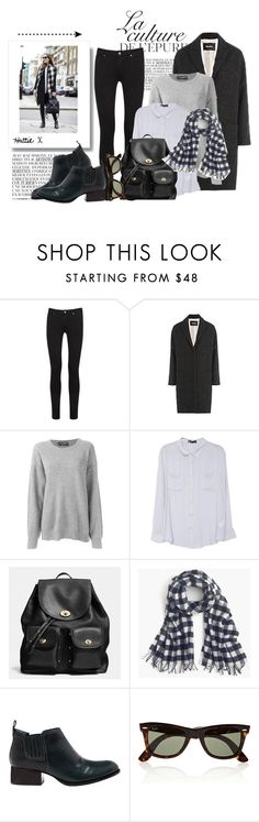 """""""Street Style Fabulousness!"""" by hattie4palmerstone ❤ liked on Polyvore featuring мода, By Zoé, Paige Denim, Zadig & Voltaire, Dolce&Gabbana, Coach, J.Crew, Alexander Wang, Ray-Ban и women's clothing"""