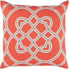 Diamond Accent Pillow in Red and Grey design by Surya