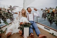 Boat Wedding, Seaside Wedding, Dream Wedding, Wedding Ideas, San Francisco City, Beach Elopement, Los Angeles Wedding Photographer, Elopement Inspiration, Sailboat