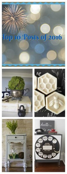 Top 10 Posts of 2016. Favorite DIY and Home Decor Projects.