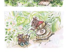 The Tales of the Stump Folks. New Work, Watercolour, Folk, Behance, Tapestry, Illustrations, Gallery, Creative, Check
