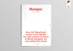 Masque – Graphic design for fashion on Editorial Design Served