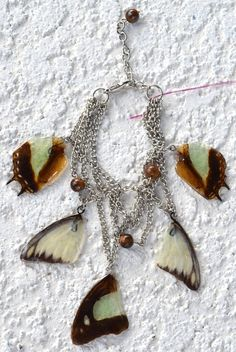 Butterfly Wing Charm Bracelet by myNaturesDESIGN on Etsy, $64.00