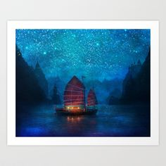 Buy Our Secret Harbor by Aimee Stewart as a high quality Art Print. Worldwide shipping available at Society6.com. Just one of millions of products…