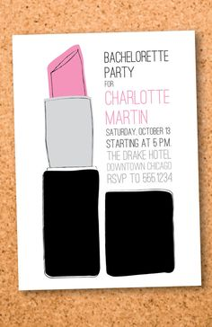 Printable bachelorette party invitation: could come in handy, @Michelle Kratzer!