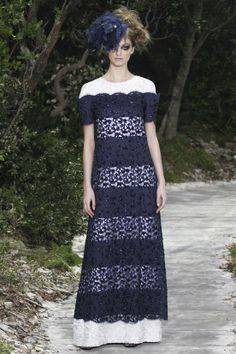 Lace & Stripes @CHANEL Chanel Spring Summer 2013 #HauteCouture #Fashion