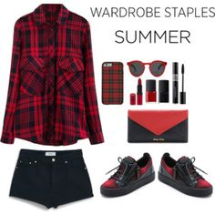 black and red and plaid