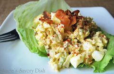 Amees Savory Dish: Egg Salad with Bacon...Paleo-Friendly