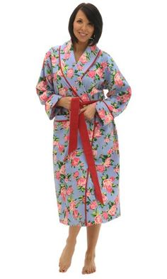 Del Rossa Women s Cotton Printed Flannel Bathrobe Robe Buy Now Women s  Cotton Flannel robe from Alexander Del Rossa. This robe features two front  pockets d2ec0a006