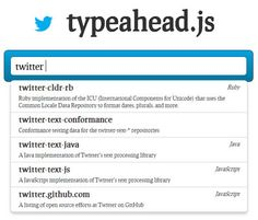 typeahead.js – Fast and Fully Featured Autocomplete Plugin by Twitter