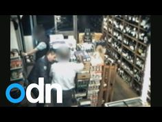 Hypnotist thief robs shopkeeper after appearing to put him in a trance - YouTube