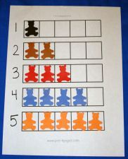 Setting: Small Group, Math Centers Objective: Number recognition, number sense, one-to-one Materials: 1-5 counting grid recording sheet (ava...