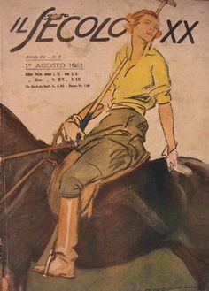 cavallerizza di polo 1921 - Marcello Dudovich