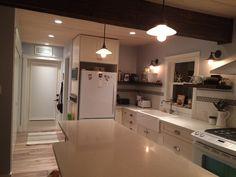 Kitchen Island, Kitchen Cabinets, Home Decor, Restaining Kitchen Cabinets, Homemade Home Decor, Kitchen Base Cabinets, Interior Design, Home Interiors, Decoration Home