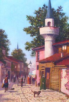 [Ottoman Empire] A Street Scene from Üsküdar, Istanbul, 1900s (Osmanlı İstanbulundan Bir Sokak Manzarası, Üsküdar)
