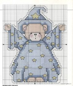 cross stitch patterns free printable | Embroidery Mishka magician.