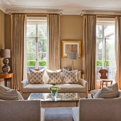 Formal Taupe Living Room