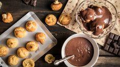 Τυροπιτα Καταΐφι με κρέμα σιμιγδαλιού - madameginger.com Falafel, Cream Cake, Chocolate Fondue, Pudding, Vegetarian, Desserts, Food, Cakes, Cleopatra