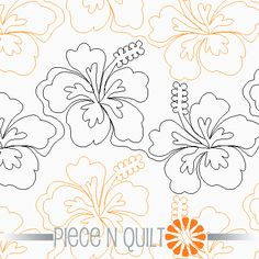 Hibiscus Pantograph Pattern - Digital by Piece n quilt