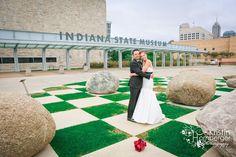 Kristin + Albert   Wedding Ceremony & Reception. Photos by Kristin Hornberger Photography. #IndianaStateMuseum