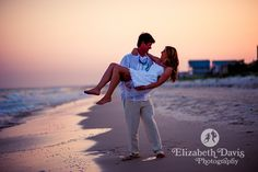 Beach destination weddings, bride and groom at sunset | Elizabeth Davis Photography at St. George Island. Click here to see the whole wedding: http://elizabethdavisphotoblog.com/john-coleys-wedding-photography/