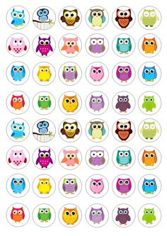 48 Owl Wafer / Rice Paper Mini Cupcake Topper Edible Fairy Cake Bun Toppers for sale Owl Clip Art, Owl Art, Owl Theme Classroom, Cutting Activities, Beaded Banners, Owl Cartoon, Art Drawings For Kids, Cute Owl, Rock Crafts