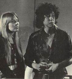 Joni Mitchell and Arlo Guthrie. 1969.